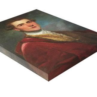 Portrait of Charles Hamilton by Joshua Reynolds Gallery Wrap Canvas