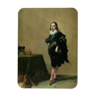 Portrait of Charles I (1600-49) 1632 (oil on panel Magnet