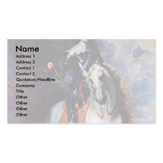 Portrait Of Charles I, King Of England Business Card Templates