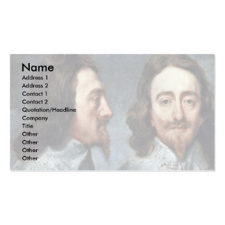 Portrait Of Charles I, King Of England Details Business Card