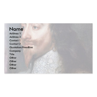 Portrait Of Charles I, King Of England Details Business Card Templates