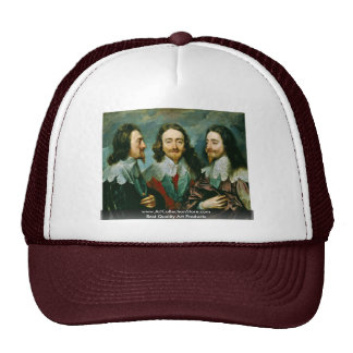 Portrait Of Charles I King Of England Trucker Hats
