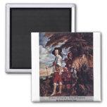 Portrait Of Charles I, King Of England Refrigerator Magnet