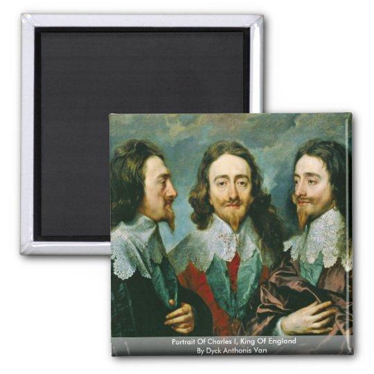 Portrait Of Charles I, King Of England Magnet