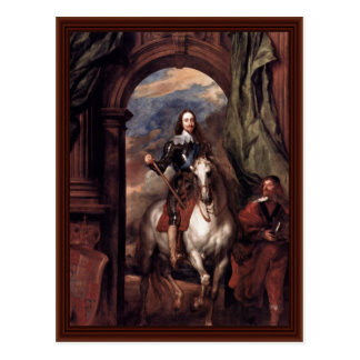 Portrait Of Charles I, King Of England Postcard