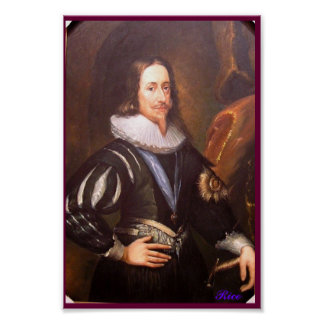 Portrait of Charles I King of England - Poster