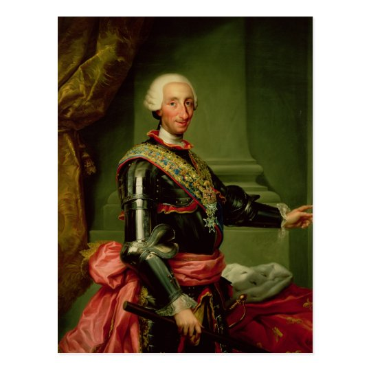 Portrait of Charles III  c.1761 Postcard