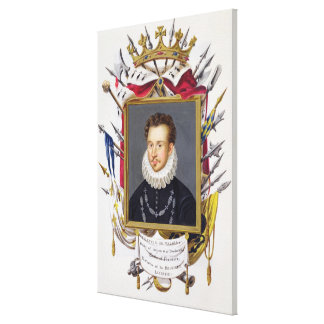 Portrait of Charles IX of France (1550-74) from 'M Canvas Print