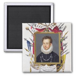 Portrait of Charles IX of France (1550-74) from 'M Fridge Magnet