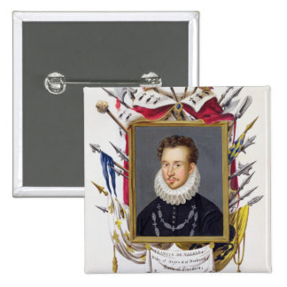 Portrait of Charles IX of France (1550-74) from 'M Pinback Button
