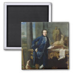 Portrait of Charles John Crowle  of Crowle 2 Inch Square Magnet