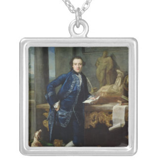 Portrait of Charles John Crowle  of Crowle Square Pendant Necklace