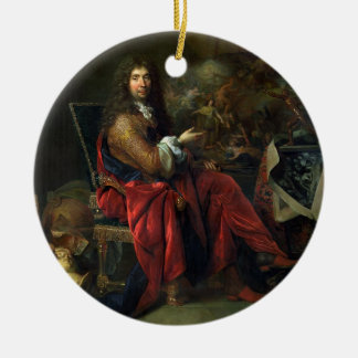 Portrait of Charles Le Brun (1619-90) 1686 (oil on Ceramic Ornament