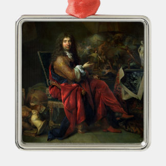 Portrait of Charles Le Brun (1619-90) 1686 (oil on Metal Ornament