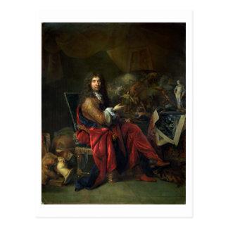 Portrait of Charles Le Brun (1619-90) 1686 (oil on Postcard