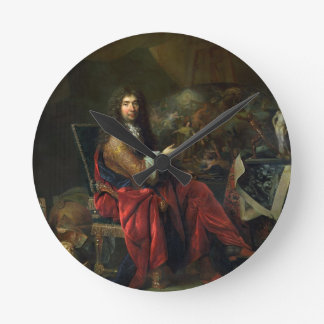 Portrait of Charles Le Brun (1619-90) 1686 (oil on Round Clock
