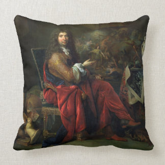 Portrait of Charles Le Brun (1619-90) 1686 (oil on Throw Pillow