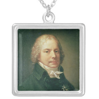 Portrait of Charles Maurice Silver Plated Necklace