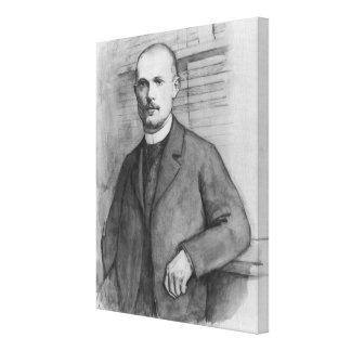 Portrait of Charles Peguy Canvas Print
