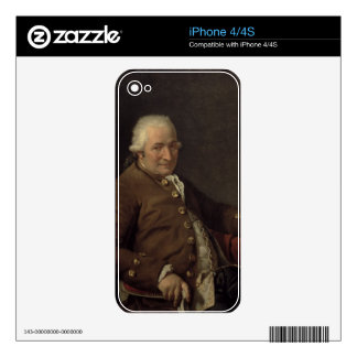 Portrait of Charles-Pierre Pecoul, 1784 (oil on ca Decals For iPhone 4