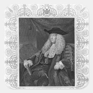 Portrait of Charles Pratt, 1st Earl Camden Square Sticker