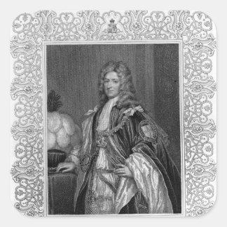 Portrait of Charles Seymour, Duke of Somerset Square Sticker