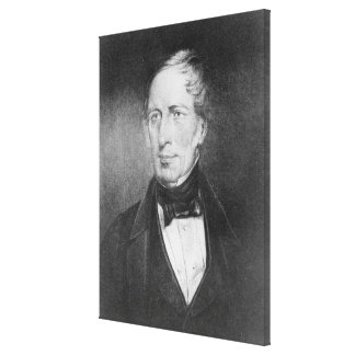 Portrait of Charles Sturt  at the age of 54 Canvas Print