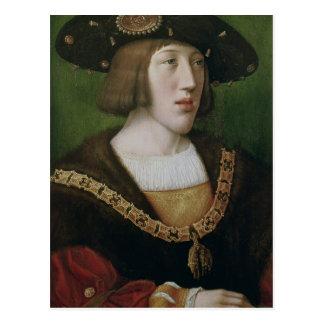 Portrait of Charles V  1516 Postcard
