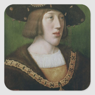 Portrait of Charles V  1516 Square Sticker