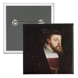 Portrait of Charles V Button