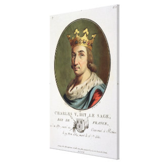 Portrait of Charles V, Called 'The Wise' King of F Canvas Print