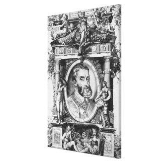 Portrait of Charles V , Holy Roman Emperor Canvas Print