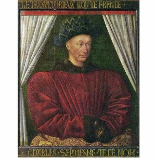 Portrait Of Charles Vii By Fouquet Jean (Best Qual Standing Photo Sculpture