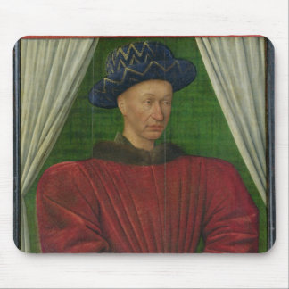 Portrait of Charles VII, c.1445-50 Mouse Pad