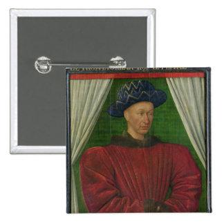Portrait of Charles VII, c.1445-50 Pinback Button