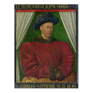 Portrait of Charles VII, c.1445-50 Postcard