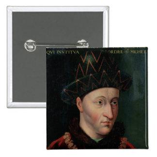 Portrait of Charles VII Pinback Button