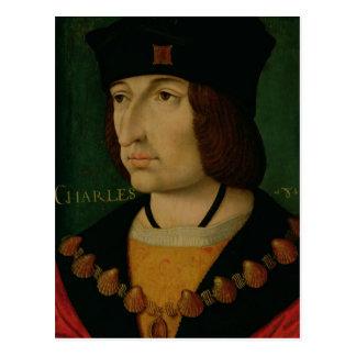 Portrait of Charles VIII  King of France Postcard