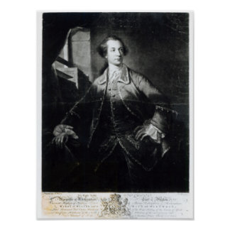 Portrait of Charles Watson-Wentworth Poster