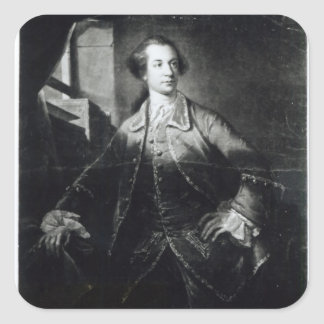 Portrait of Charles Watson-Wentworth Square Sticker