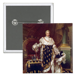 Portrait of Charles X  in Coronation Robes, 1827 2 Inch Square Button