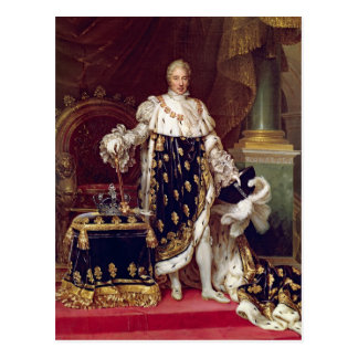 Portrait of Charles X  in Coronation Robes, 1827 Postcard