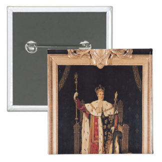 Portrait of Charles X  in Coronation Robes, 1829 2 Inch Square Button
