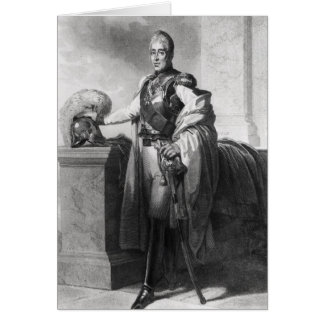 Portrait of Charles X  King of France and Card