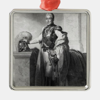 Portrait of Charles X  King of France and Metal Ornament