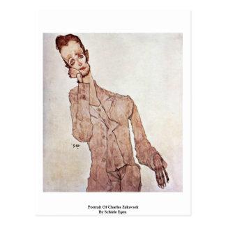 Portrait Of Charles Zakovsek By Schiele Egon Postcards