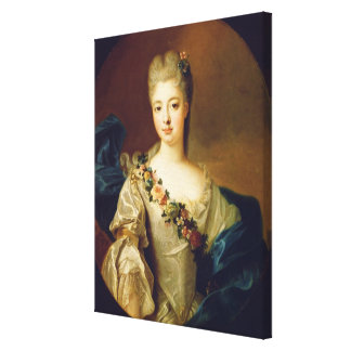 Portrait of Charlotte Aglae of Orleans, 1720s Canvas Print