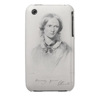 Portrait of Charlotte Bronte, engraved by Walker a iPhone 3 Case-Mate Cases
