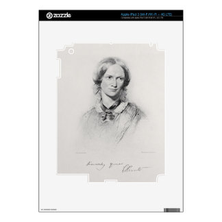 Portrait of Charlotte Bronte, engraved by Walker a Decals For iPad 3