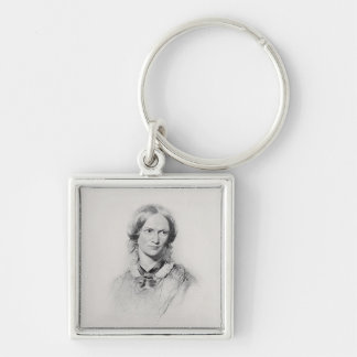 Portrait of Charlotte Bronte, engraved by Walker a Keychain
